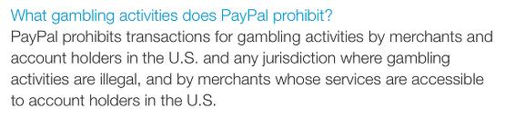 Paypal US Gambling