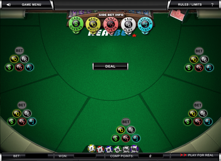 RealBet's Blackjack Table